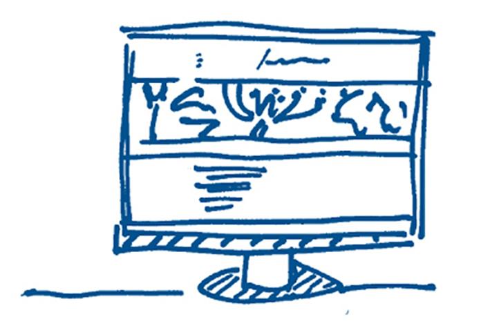1 blauw gr vormgeving 6 x 4 cm